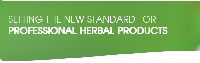 Setting the new standard for herbal professional products
