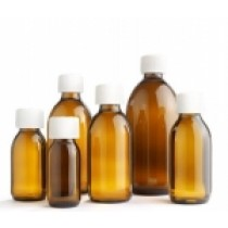 Amber Medical round Glass Bottles
